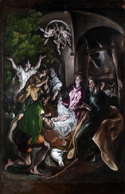 The Adoration of the Shepherds by El Greco, c. 1605-1610