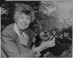 Roosevelt with her dog Fala in 1951