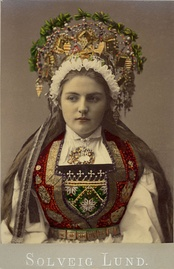 A bride from Hardanger, c. 1900