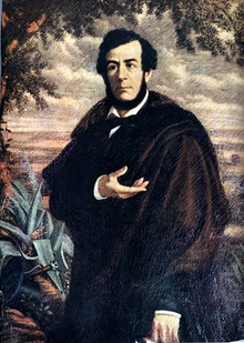 Portrait of Esteban Echeverría.