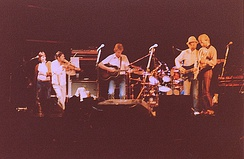 "Fairport Convention ""Nine"" line-up, reunited on stage at Cropredy 1982"