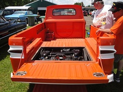 1962 Rampside Pickup - rear engine placement under loadbed