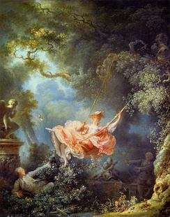 The Swing (French: L'escarpolette), 1767, Wallace Collection, London.