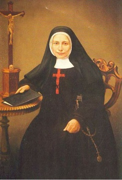 Blessed Mary Frances Schervier (1819–1876) was a member of the Third Order of St. Francis who became the foundress of the Poor Sisters of St. Francis, founded to serve the needy.