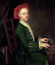 """The Chandos portrait of Georg Friedrich Händel""by James Thornhill, c. 1720"