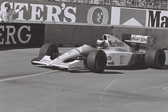 Berger driving for McLaren at the 1991 United States Grand Prix