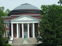 Grawemeyer Hall, modeled after the Roman Pantheon, is the University of Louisville's main administrative building