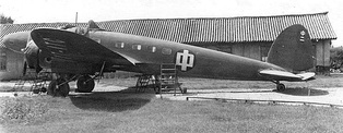 A Chinese He 111A re-engined with Wright Cyclone radial engines