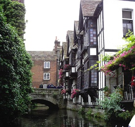 Huguenot weavers' houses at Canterbury