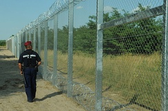 The Hungarian–Serbian border fence