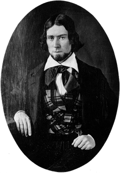 Daguerreotype of James Russell Lowell, taken in Philadelphia, 1844