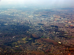 January 2008 Johannesburg aerial view looking towards the south-east