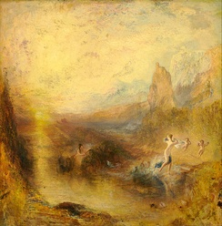 Joseph Mallord William Turner, 1841, Glaucus and Scylla, oil on panel, 77 × 78 cm