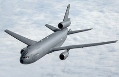 A USAF KC-10 Extender after being refueled by another KC-10