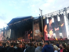 Metallica performing during the Sonisphere Festival in 2014