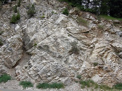 Lower Carboniferous marble in Big Cottonwood Canyon, Wasatch Mountains, Utah
