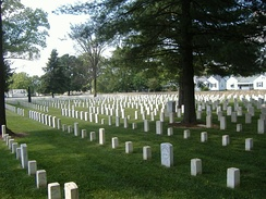 New Albany National Cemetery opened in 1862 and inters hundreds of Civil War soldiers