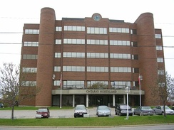 The headquarters of the Ontario Northland Transportation Commission in North Bay