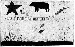 The original of Todd's Bear Flag, photographed in 1890