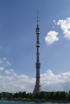 Ostankino Tower, the tallest freestanding structure in Europe and 8th tallest in the world