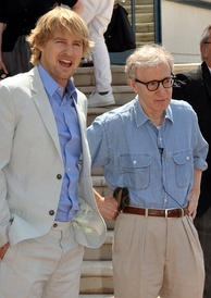 Owen Wilson and Woody Allen promoting the film at the 2011 Cannes Film Festival.