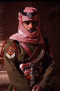 A Jordanian Bedouin forces officer in Petra 2004.