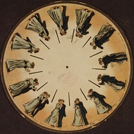 A phenakistoscope disc by Muybridge (1893)