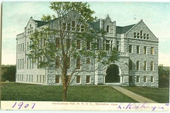 Dickens Hall, from a 1907 postcard