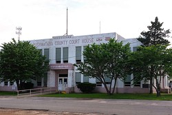 The Pushmataha County Courthouse in Antlers.