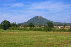 The Wrekin is a prominent geographical feature located in the east of the county.