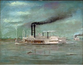 Steamboat Robert E. Lee, by August Norieri.