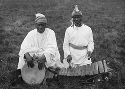 Djembé and balafon played by Susu people of Guinea