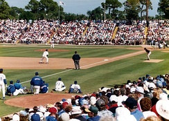 A Grapefruit League game at the former Los Angeles Dodgers camp in Vero Beach, Florida