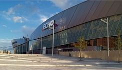 The Echo Arena soon after completion