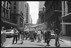 November 1978: Gay Solidarity Group supporters march in Sydney, Australia to protest the Briggs Initiative.