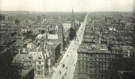 Bird's-eye view looking north from 51st St. c. 1893