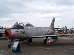 North American F-86 E Sabre in Istanbul Aviation Museum