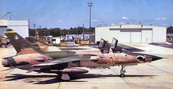 the last F-105 in USAF service at Dobbins AFB[note 4]