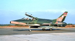 162d Tactical Fighter Squadron – North American F-100F Super Sabre 56-3859 about 1975