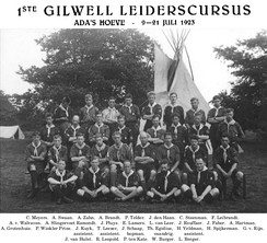 Gilwell Leiderscursus, The Netherlands July 9–21, 1923
