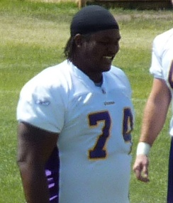 Former Minnesota Vikings' offensive tackle Bryant McKinnie