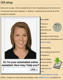An automated online assistant providing customer service on a web page, an example of an application where natural language processing is a major component.[1]
