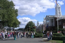 The Big E is New England's collective state fair. On the Avenue of the States, each of the six New England States owns its own plot of land and replica State House.