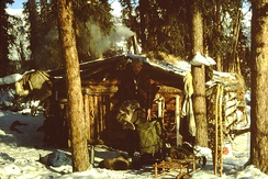Trapper's cabin in Alaska, 1980s