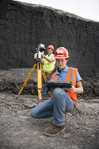 Laser profiling of a minesite by a coal miner using a Maptek I-site laser scanner in 2014