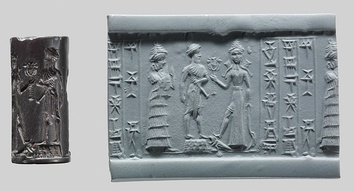 Cylinder seal, ca. 18th–17th century BC. Babylonia