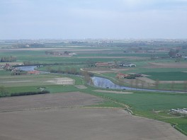 Polders along the Yser river
