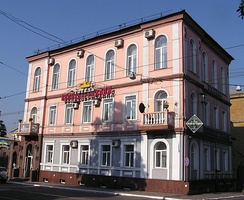 The Velikobritaniya (English: Great Britain) hotel is one of the oldest buildings in Donetsk, constructed in 1883.