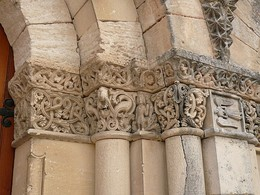 St Martin's Church, Gensac-la-Pallue has capitals with elaborate interlacing.