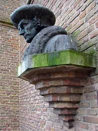 Bust by Hildo Krop (1950) at Gouda, where Erasmus spent his youth